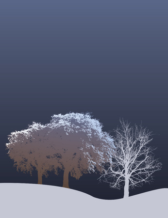 rural scene: An ethereal, winter, Christmas, holiday background with space for text