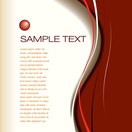 Abstract vector layout background with sample text in place