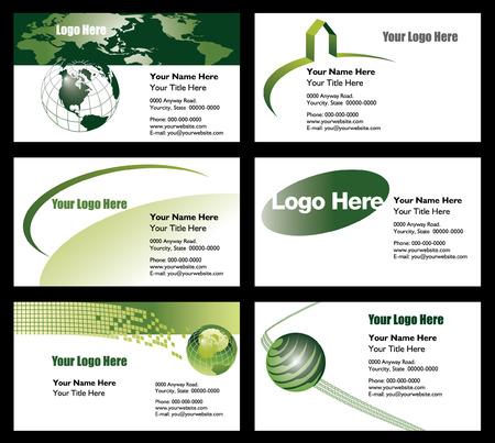 6 ビジネス カード テンプレートから選択するには  イラスト・ベクター素材