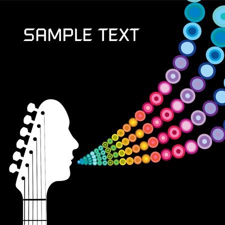 musicos: Guitarra cabezal hombre con los c�rculos y en el espacio para el texto