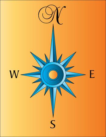 Compass steeg illustratie geïsoleerd op een witte achtergrond. Stock Illustratie