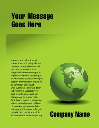 Vector pagina ontwerp met een globale groene thema
