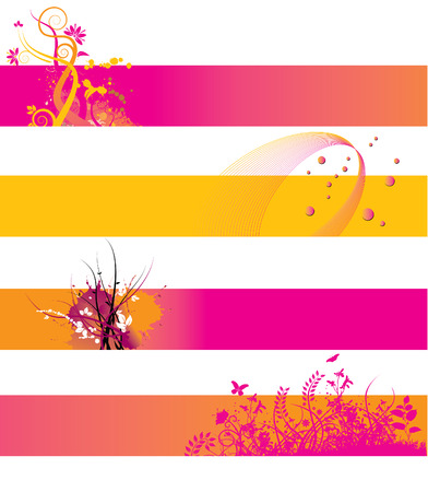 website header: Choice of Four colorful grunge banners with space for text Illustration