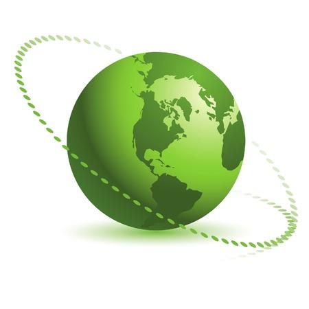 Abstract green globe design in editable vector format Illusztráció