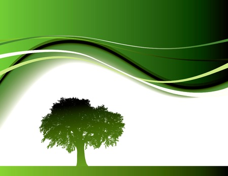 Abstract green tree background in editable vector format Illustration