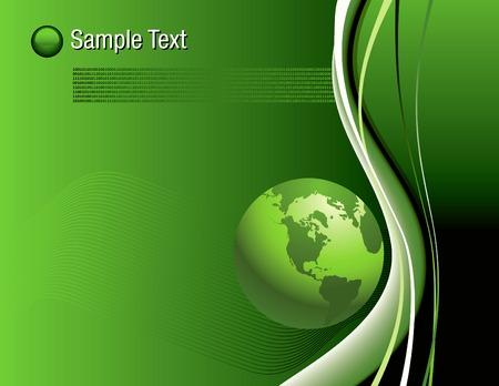 Een abstracte binaire Globe achtergrond in bewerkbare vector-formaat Stock Illustratie
