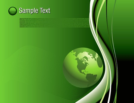 An Abstract Binary Globe Background in editable vector format