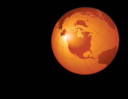 environmental awareness: A Background with abstract planet earth in gold