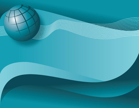 transmit: A blue background with a globe and binary pattern. Illustration