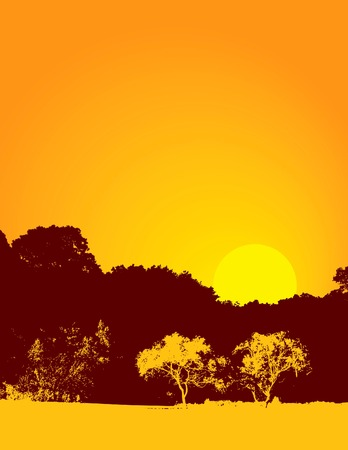 Sunrise or sunset nature background. Has background space for text. Also available in vector format