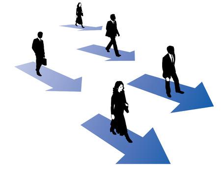 dsl: Gli uomini d'affari e di navigare le donne d'affari sulle frecce