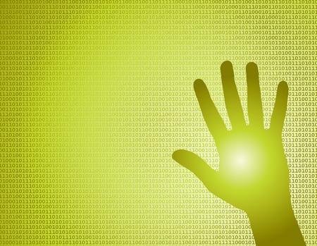binary Hand vector background Stock Vector - 5195140