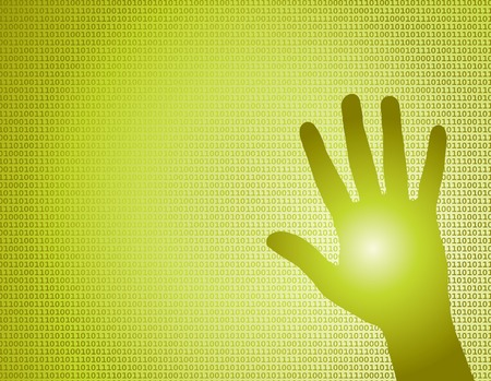 binary Hand vector background