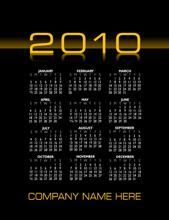 scheduler: 2010 stylish calendar with space for your company name Illustration