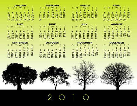 A 2010 vector tree calendar  Stock Vector - 5483921
