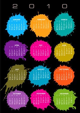 scheduler: 2010 Splatter Vector Calendar