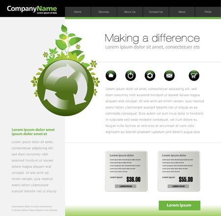Green website template Stock Vector - 5873291