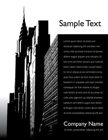 Stad vector achtergrond pagina-indeling Stock Illustratie