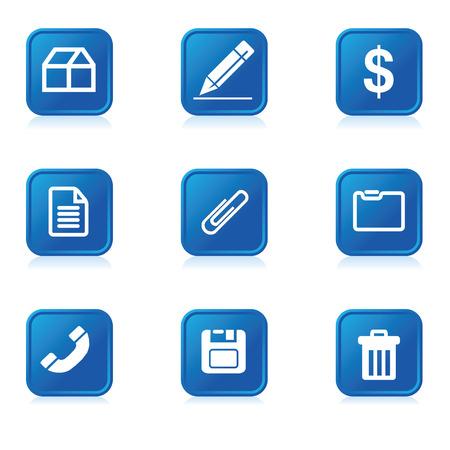 A set of nine icon symbols