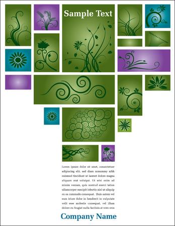 Green, floral page layout design with space for your text Stock Vector - 6579986