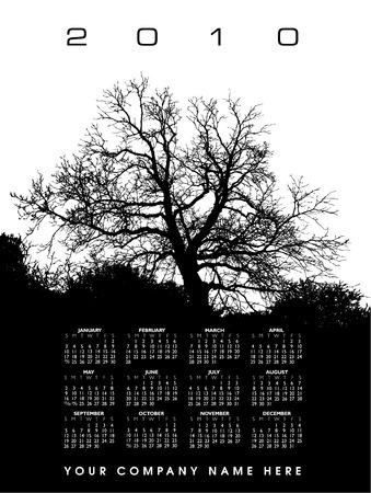 A 2010  tree calendar Stock Vector - 6652928