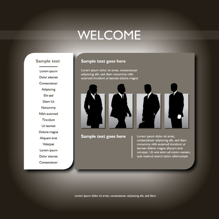 web site design template with business figures Stock Vector - 6665330