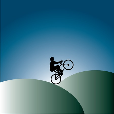 Lone bicycle background Stock Vector - 6708138