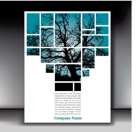 Einzigartige Baum Seitenlayout für Web oder Print Standard-Bild - 22729065