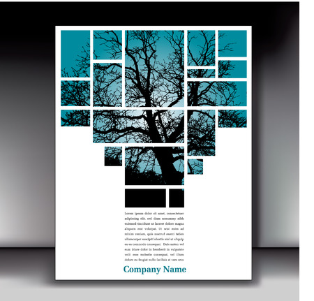 flyer layout: Unique tree page layout for web or print