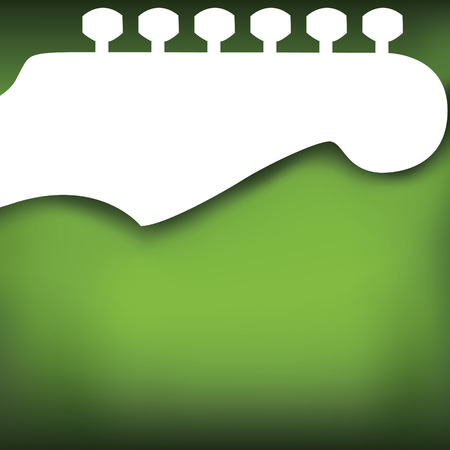 one sheet: Green Guitar Vector Background, with space for your text  Illustration