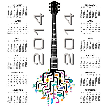 2014 Creative Calendar for Print or Website