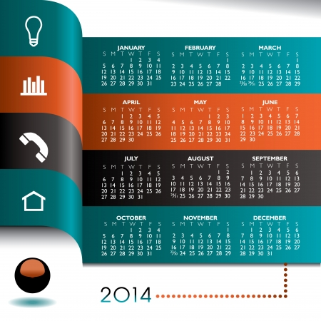 2014 Creative Infographic Calendar for Print or Web