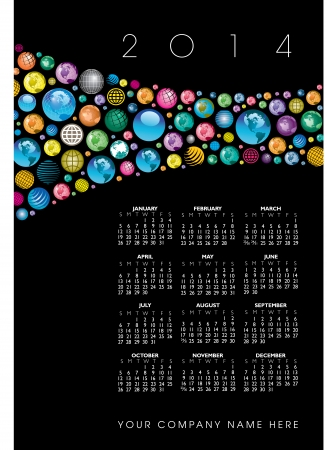 scheduler: 2014 Creative Globes Calendar for Print or Website