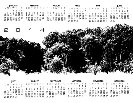 event planner: 2014 Creative Woods Calendar for Print or Website