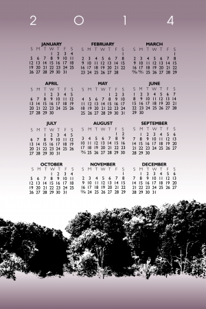2014 Creative Apple Calendar for Print or Web