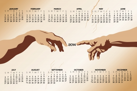 2014 Creative Calendar for Print or Web  Иллюстрация