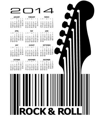 2014 Creative Guitar Calendar for Print or Web