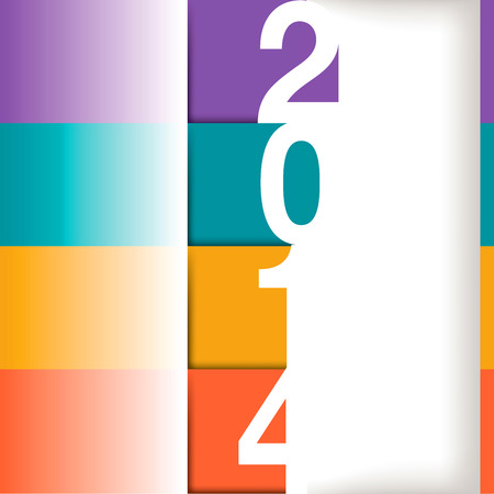 2014 Happy New Year art for web or print use Illustration