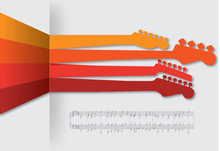 bass guitar: Funky guitar music background for Print or Web