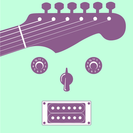 chord: Funky guitar face music background for Print or Web  Illustration