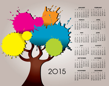 event planner: A 2015 Nature and Tree Calendar for Print or Web