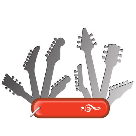 all purpose: All Purpose Guitar Knife Music Design Graphic Illustration