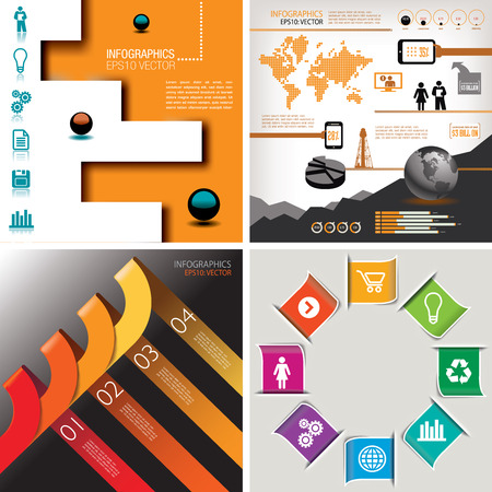 Four-in-One infographics--four Designs For The Price of One