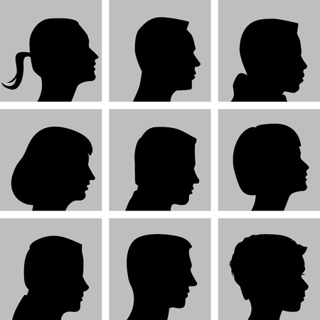 crown tail: Set of Cameo Silhouettes for Print or Web Illustration