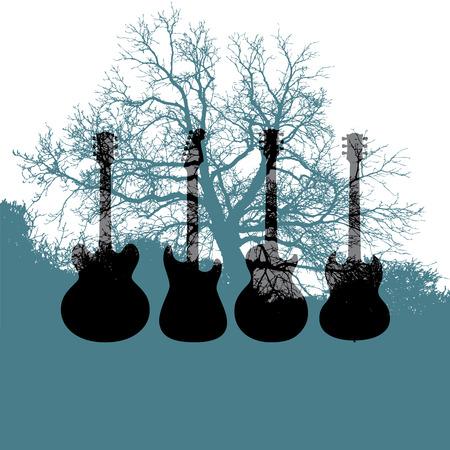 Guitar tree Music Background