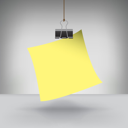 hung: A Note Hung by a Binder Clip