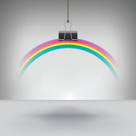 binder clip: A Rainbow Hung by a Binder Clip