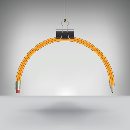 drooping: Drooping Pencil Hung by a Binder Clip