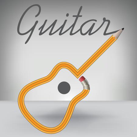 Populaire Une Musique, Fond Vectoriel Avec Poupées Guitare Clip Art Libres  HG59