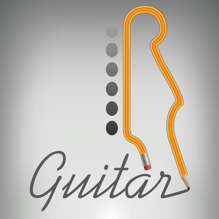 lead guitar: A Guitar Pencil Writes its Own Name